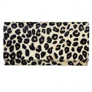 Myra Bag™️ Leopard Print Hair On Leather Wallet